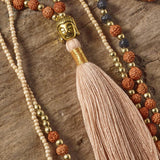 Positivity Tassel Necklace (Soft Peach)