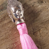 pink buddha bag tassel / key ring