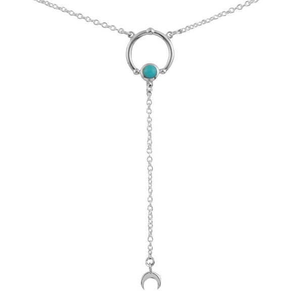 Sputnik Moon Turquoise Necklace by Dara