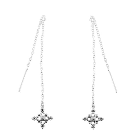 Dainty Moroccan Star Threader Earrings