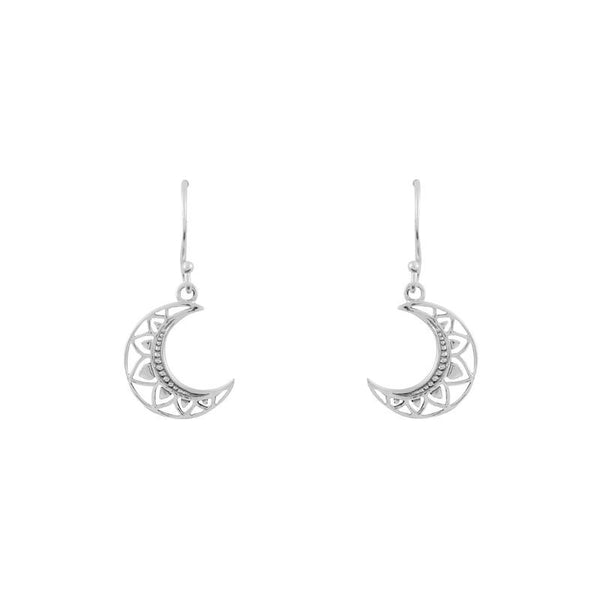 Mandala Moon Drop Earrings