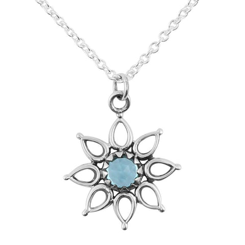 Starlight Choker Necklace - Blue Topaz