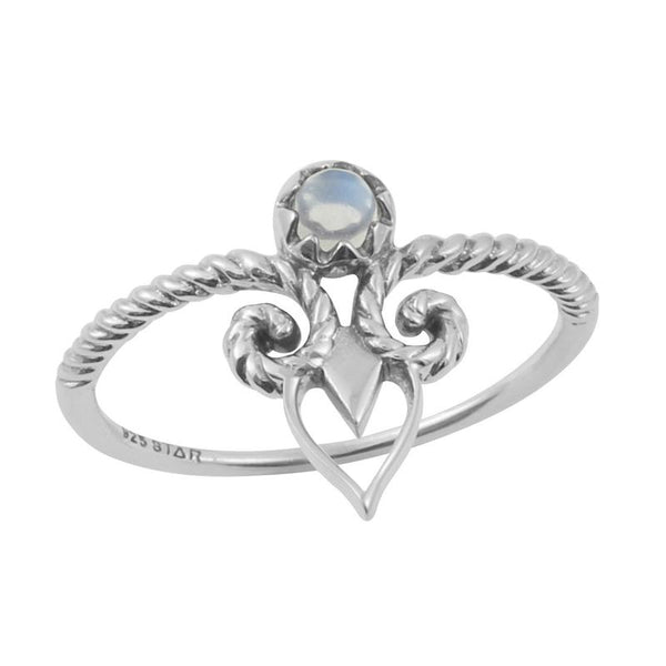 Sumptuous Ring - Rainbow Moonstone