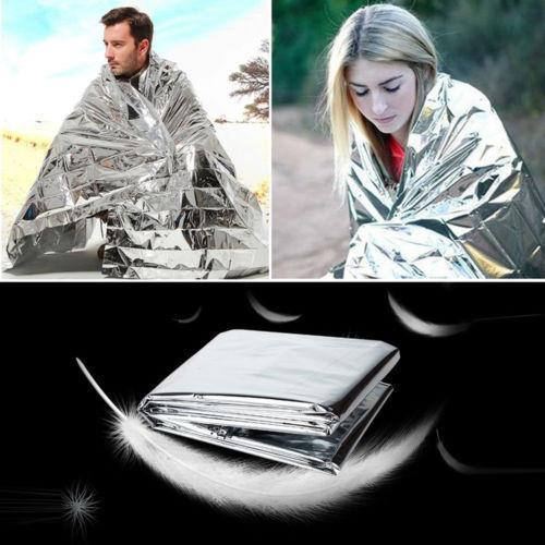 Survival Gears Depot 10pcs ( 210*130CM)  Emergency Outdoor Survival Blanket - Silver