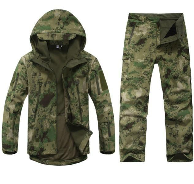 Survival Gears Depot False green waste / S Outdoor Waterproof Tactical/Hunting Jacket Plus Matching Pants