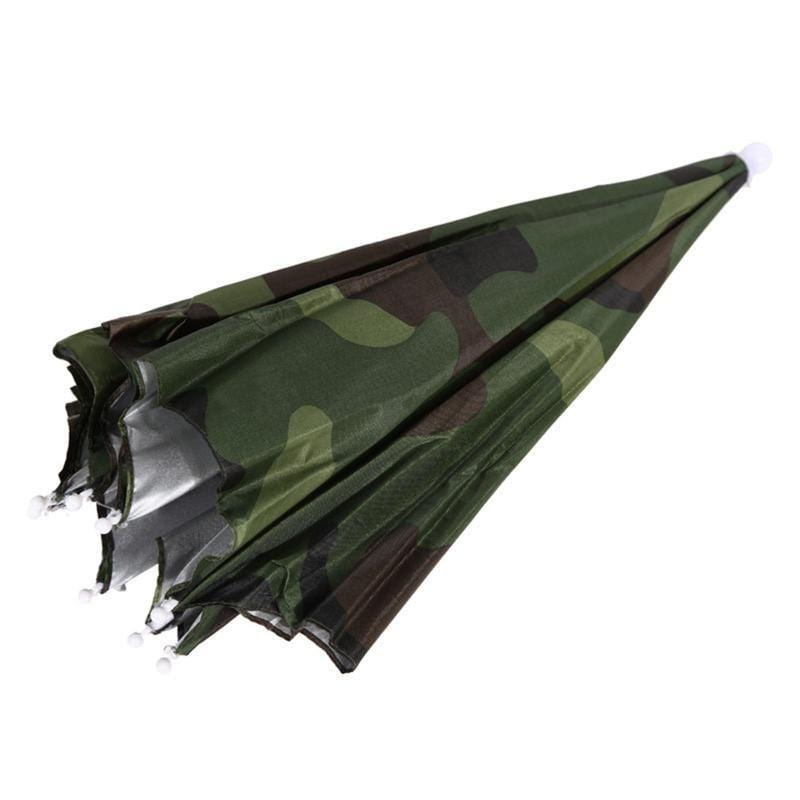Survival Gears Depot Fishing Caps Green Portable Head Umbrella