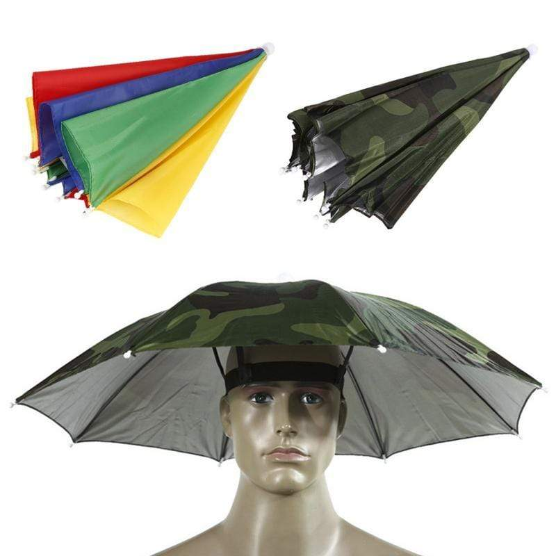 Survival Gears Depot Fishing Caps Portable Head Umbrella
