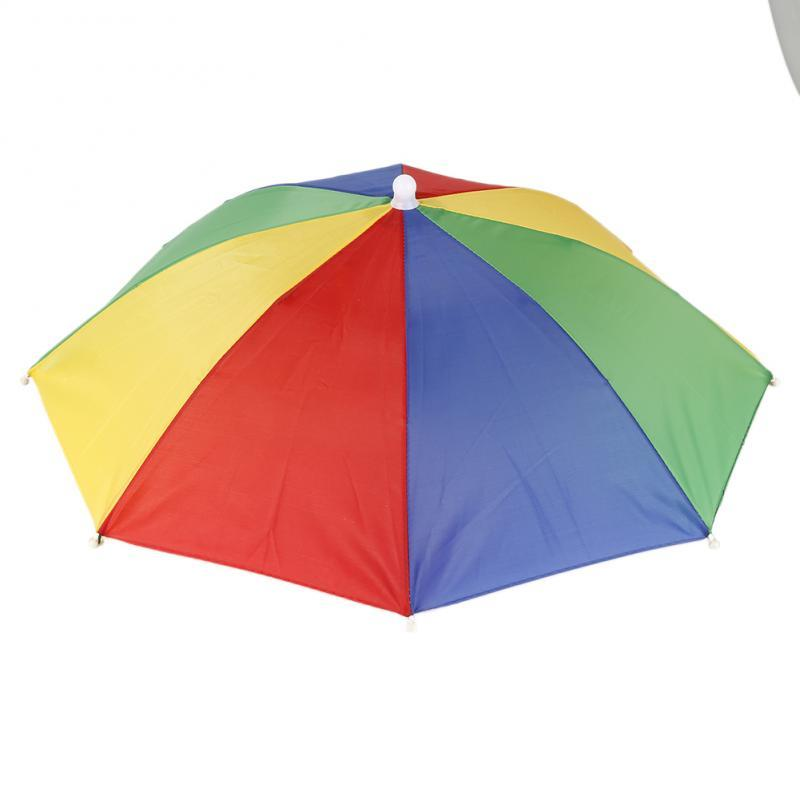 Survival Gears Depot Fishing Caps Rainbow Portable Head Umbrella