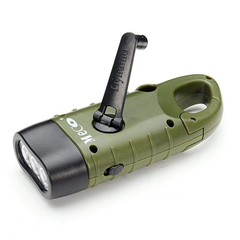 Survival Gears Depot Flashlight Buy 1 @ 50% OFF Now Emergency Rechargeable Hand Crank Dynamo Solar LED Flashlight