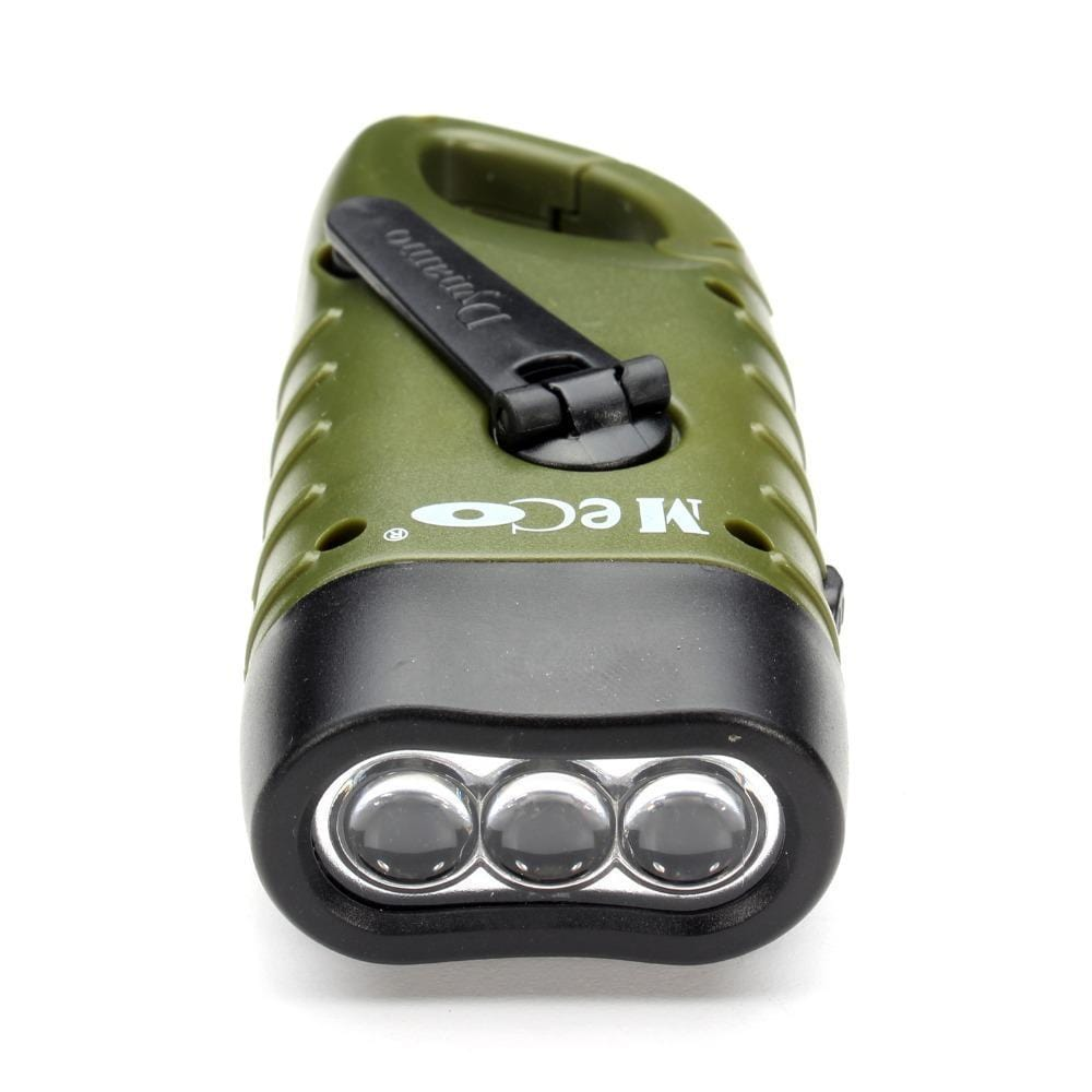 Survival Gears Depot Flashlight Emergency Rechargeable Hand Crank Dynamo Solar LED Flashlight