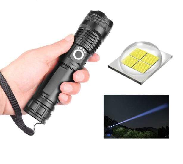 Survival Gears Depot Flashlight Package A 7000 Lumens Powerful USB Flashlight For Camping and Outdoor Activities