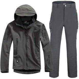 Survival Gears Depot Gray / S Outdoor Waterproof Tactical/Hunting Jacket Plus Matching Pants