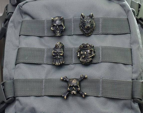 Survival Gears Depot High Quality Wolf Beads 100% Handmade Bronze Wolf Paracord Bead