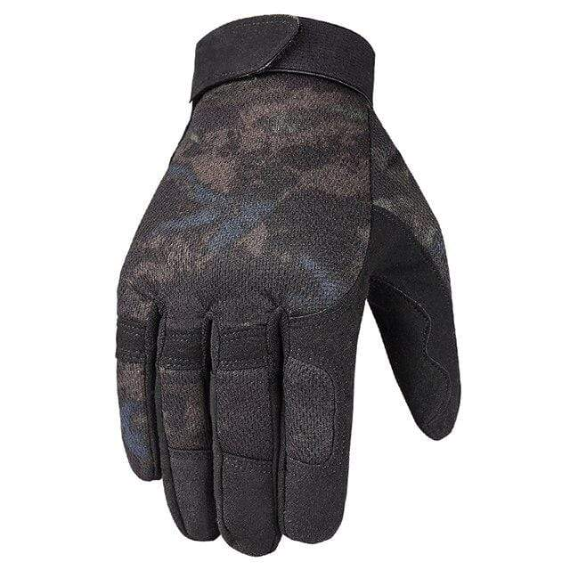 Survival Gears Depot Hiking Gloves A9 Camoblack / S Full Finger Military Army Tactical Gloves