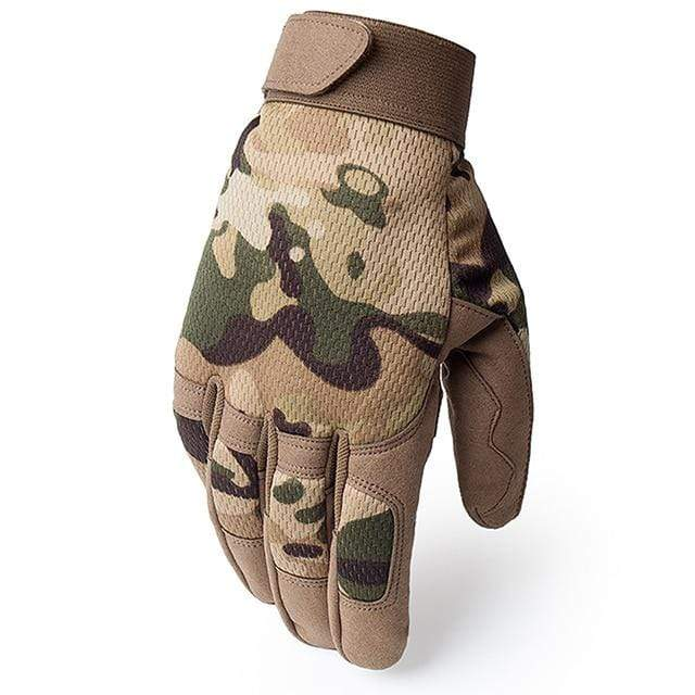 Survival Gears Depot Hiking Gloves A9 Multicam / S Full Finger Military Army Tactical Gloves