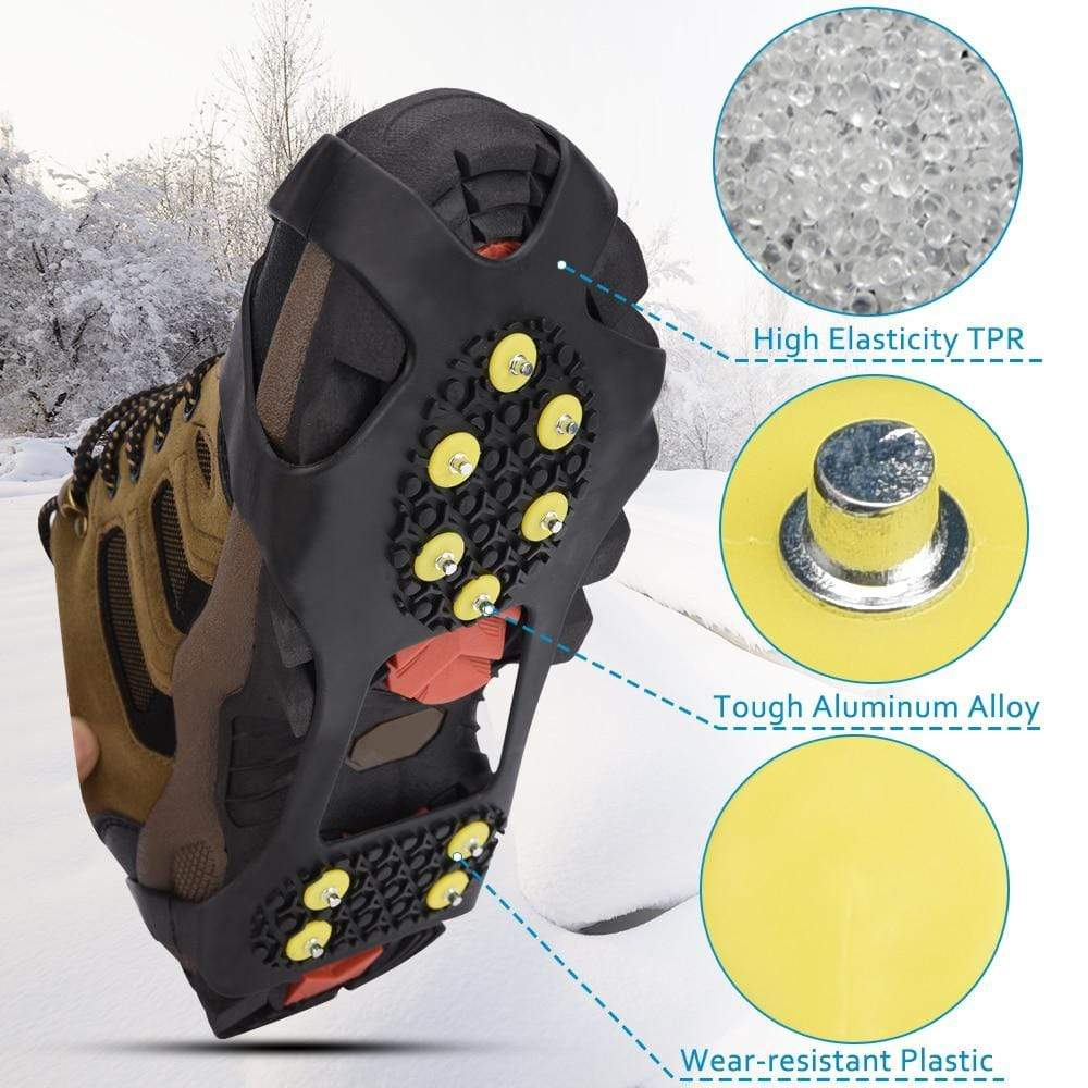 Elino Official Store Ice Gripper 10 Studs Anti Skid Gripper Spikes