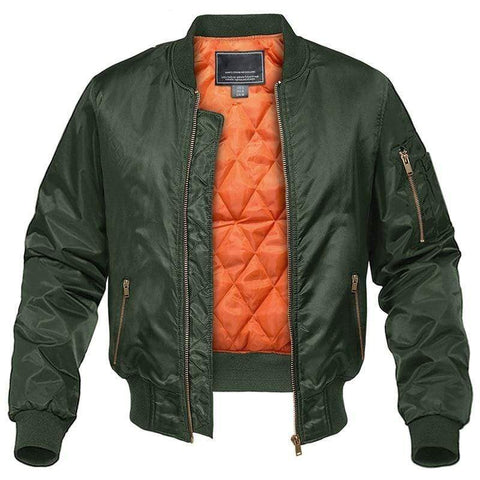 TACVASEN Official Store Jackets Army Pilot Bomber Jacket