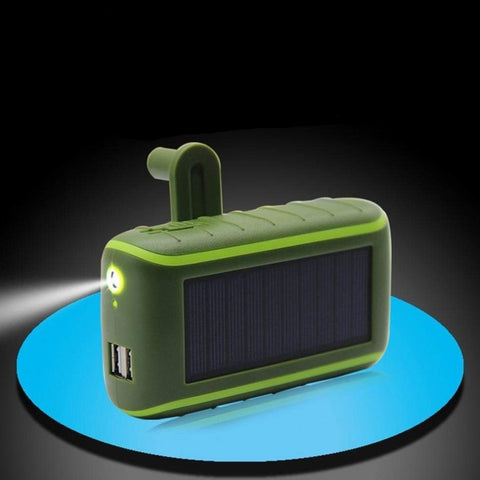 YXF CO.,LTD Store Power Bank Multifunctional Hand Crank Solar Power Bank