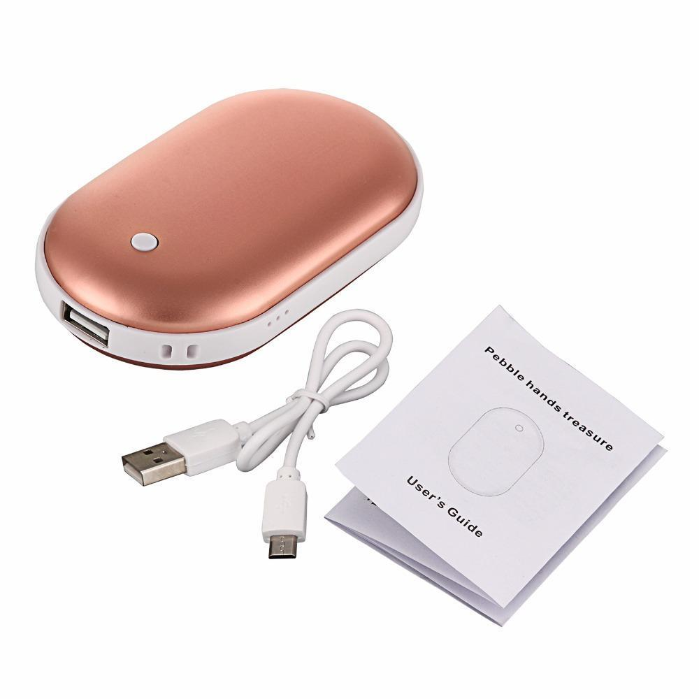 Survival Gears Depot Power Bank Rose Gold ( Buy 1 @ 50% OFF) Quick Heat Electric 2-1 Hand warmer & Powerbank