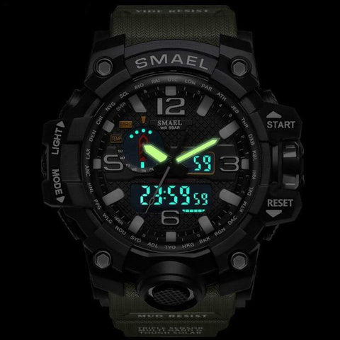 Survival Gears Depot Quartz Watches Military Dual Display Analog Digital Watch