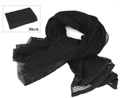 Survival Gears Depot Scarves Black Military Tactical Mesh Scarf