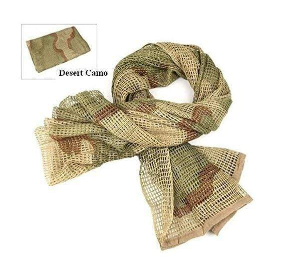 Survival Gears Depot Scarves Desert Camo Military Tactical Mesh Scarf