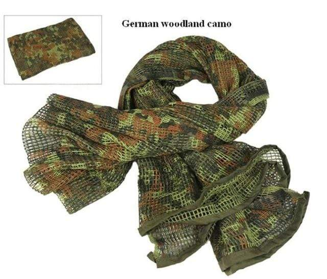 Survival Gears Depot Scarves German Camo Military Tactical Mesh Scarf