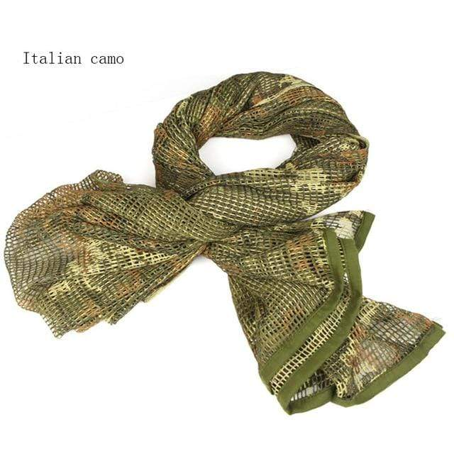 Survival Gears Depot Scarves Italian Camo Military Tactical Mesh Scarf