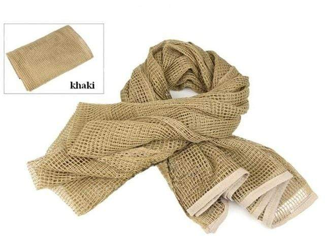 Survival Gears Depot Scarves TAN Military Tactical Mesh Scarf