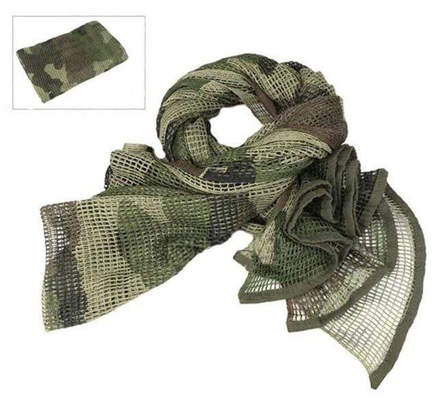 Survival Gears Depot Scarves Woodland Camo Military Tactical Mesh Scarf