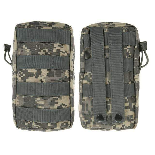 Survival Gears Depot Survival Backpack ACU 1 Pack Molle Pouches - Tactical Compact Water-Resistant 600D EDC Pouch