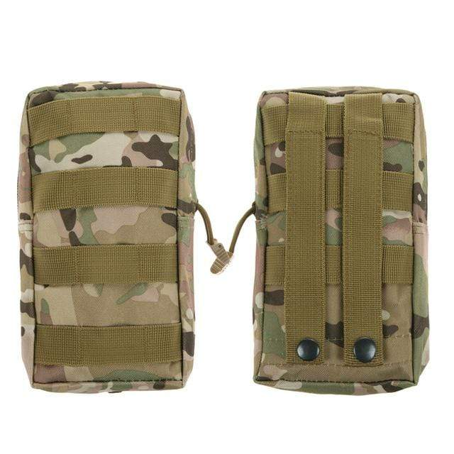 Survival Gears Depot Survival Backpack CP 1 Pack Molle Pouches - Tactical Compact Water-Resistant 600D EDC Pouch