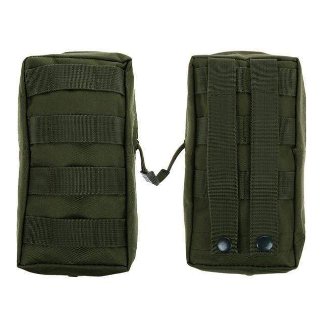Survival Gears Depot Survival Backpack Green Color 1 Pack Molle Pouches - Tactical Compact Water-Resistant 600D EDC Pouch