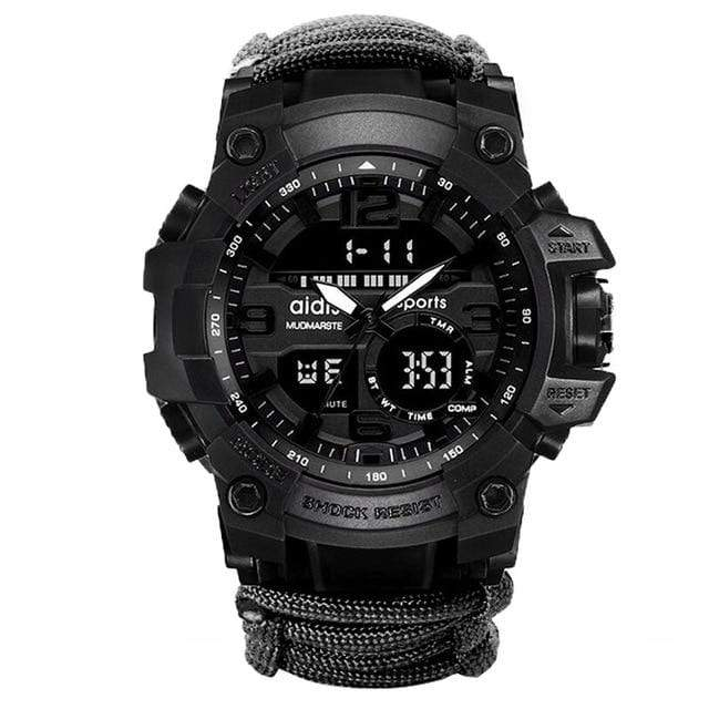 Survival Gears Depot Survival Watches Black ( Buy 1 @ 30% OFF) Men Digital Multi Use Survival Digital Sports Watches