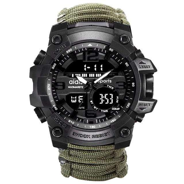Survival Gears Depot Survival Watches Green ( Buy 1@ 30% OFF) Men Digital Multi Use Survival Digital Sports Watches