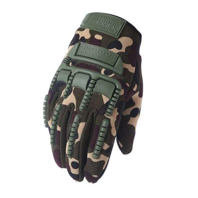 Survival Gears Depot Tactical Gloves Camouflage / M Tactical Anti Skid Army Military Gloves