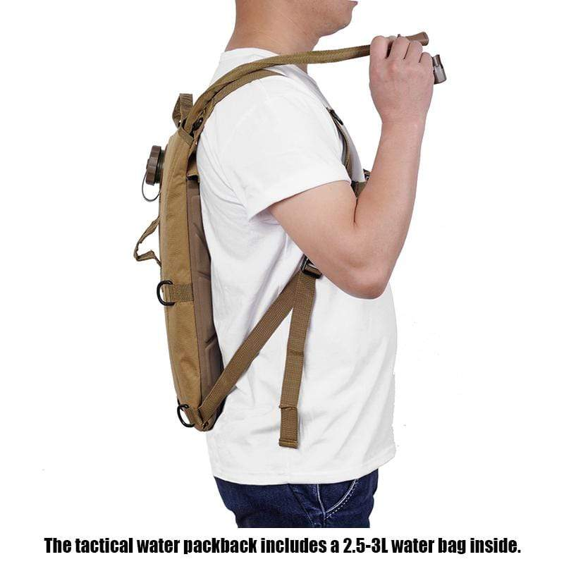 Survival Gears Depot Water Bags 3L Molle Military Tactical Hydration Water Backpack