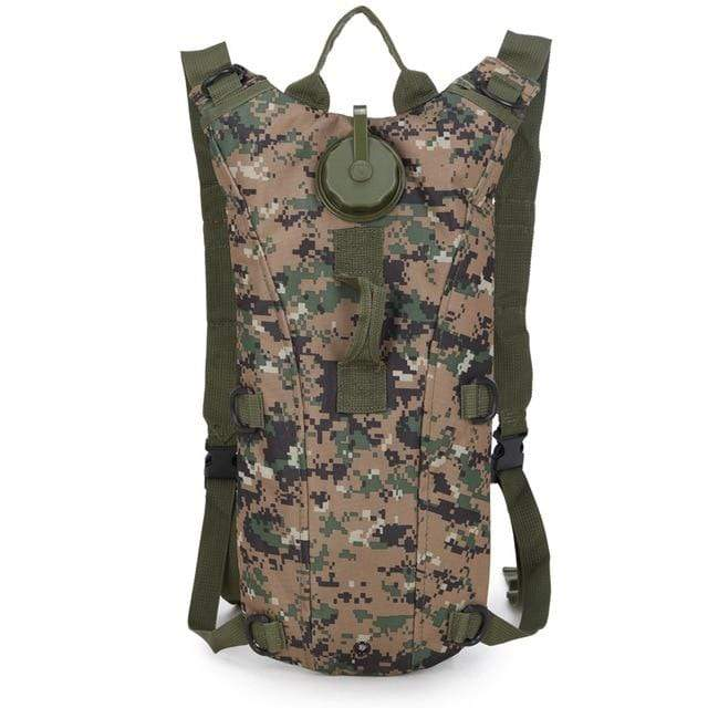 Survival Gears Depot Water Bags Jungle Digital 3L Molle Military Tactical Hydration Water Backpack