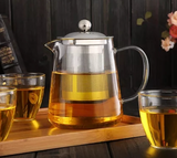 Glass Teapot - High Borosilicate Glass - TheAkronHouseTeaCo.