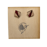 Oxblood Ray Leather Square Studs