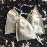 Empty Drawstring Teabags - TheAkronHouseTeaCo.