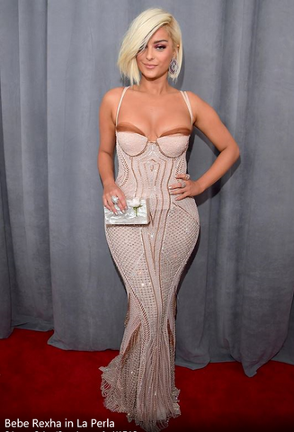 Beb Resha at Grammys 2018 - iBagzy bag rental blog post