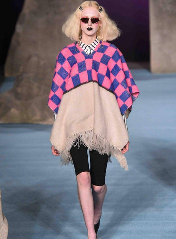 Ashley Williams eighties inspired fashion at LFW