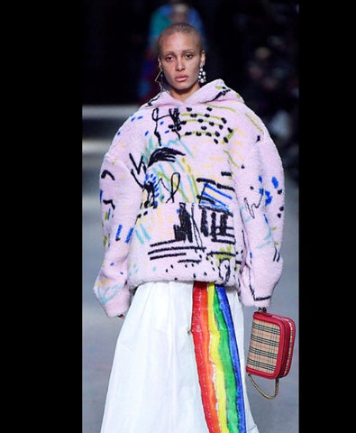 Christopher Bailey for Burberry eighties inspired fashion at LFW