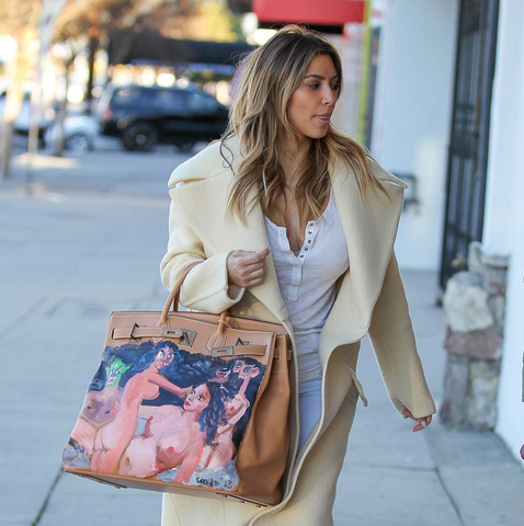 Kim Kardashian Hermes Birkin at iBagzy bag rental blog post