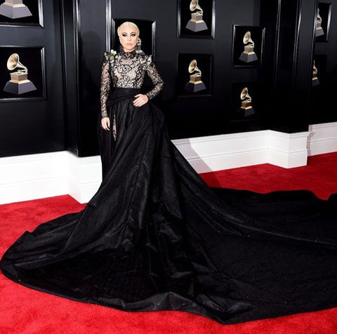 Lady Gaga at Grammys 2018 - iBagzy bag rental blog post