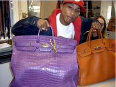 Pharrell Williams Hermes Birkin at iBagzy bag rental blog post