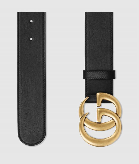 4a9eb92cf7d ... Gucci black leather belt with double G buckle to rent at iBagzy ...