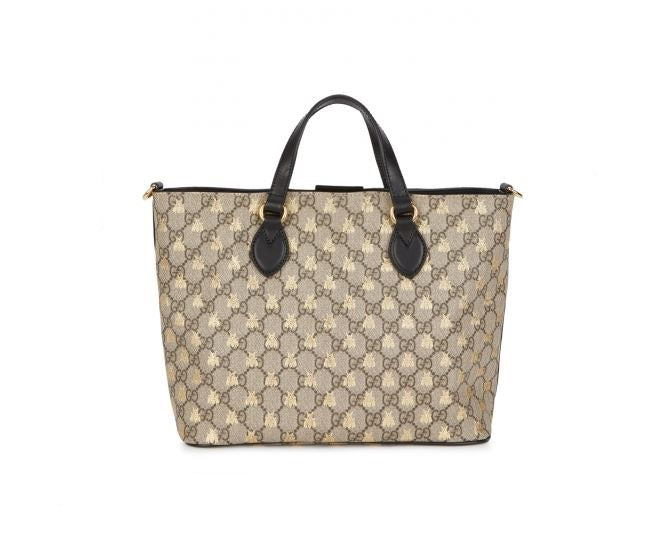Gucci GG Supreme Bees Tote to rent at iBagzy bag rental Northern Ireland