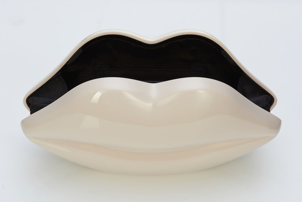Lulu Guinness Cream Lips Clutch Ibagzy Bag Rental Northern Ireland